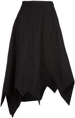 Yohji Yamamoto zig zag flared skirt
