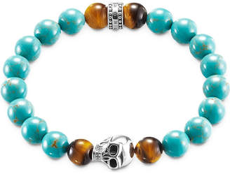 Thomas Sabo Rebel at Heart turquoise skull bracelet