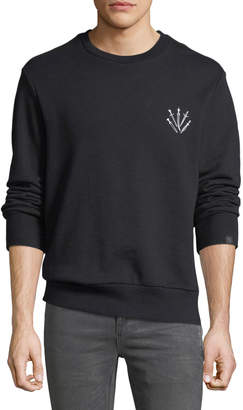 Rag & Bone Men's Dagger Embroidered Sweatshirt