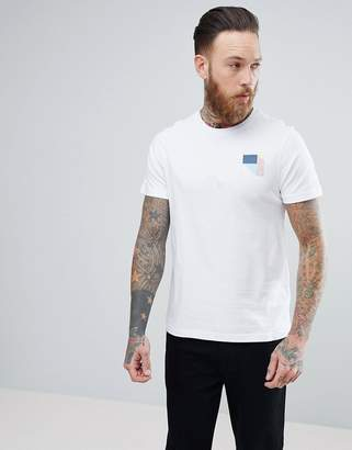 Farah Slim Fit Flanders Graphic Logo T-Shirt in White