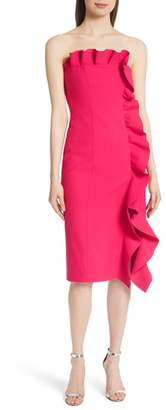 Cinq à Sept Selma Ruffle Trim Strapless Dress