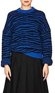 Marc Jacobs Women's Zebra-Striped Wool-Blend Sweater-Blue Pat.
