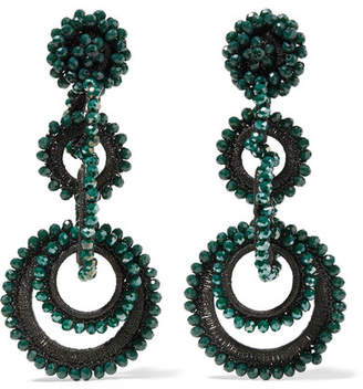 Bibi Marini - Sundrop Bead And Silk Earrings - Emerald