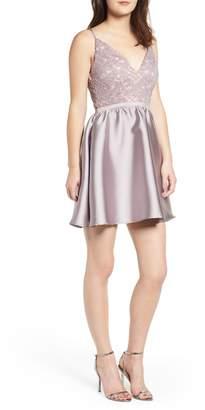 Love, Nickie Lew Lace & Taffeta Party Dress