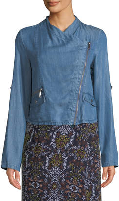 Co Dex Bros Clothing Roll-Sleeve Lightweight Woven Moto Jacket