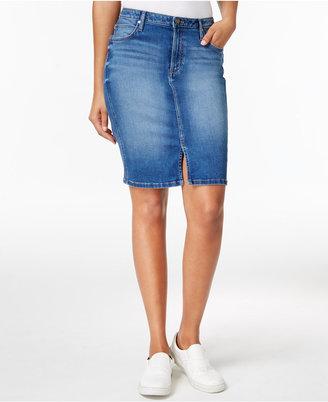 Calvin Klein Jeans Sculpted Denim Pencil Skirt $79.50 thestylecure.com