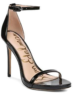Sam Edelman Women's Ariella Patent Leather High-Heel Ankle Strap Sandals