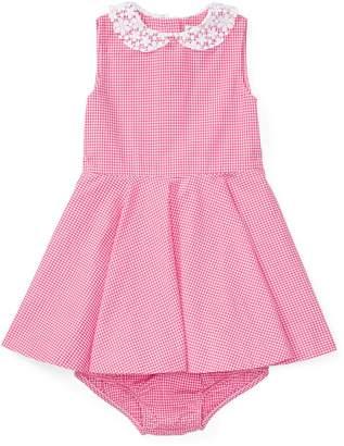 Ralph Lauren Girls' Gingham Cotton Shirtdress & Bloomer