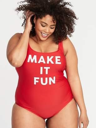 d00be95a348 Old Navy Secret-Slim Graphic Plus-Size Swimsuit
