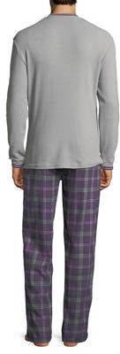 Psycho Bunny Thermal Tee & Flannel Pants Lounge Gift Set