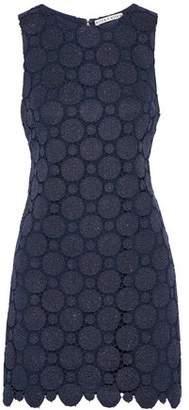 Alice + Olivia Clyde Metallic Guipure Lace Mini Dress