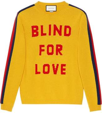 Gucci Blind for Love and wolf wool sweater