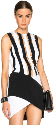Mugler Bi Color Fitted Cady Top $1,958 thestylecure.com