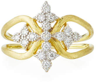 Jude Frances 18K Moroccan Diamond Maltese Cross Ring, Size 7.5
