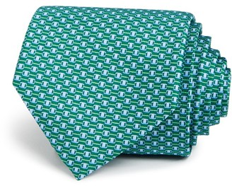 Salvatore Ferragamo Signature Connected Buckle Neat Classic Tie $190 thestylecure.com