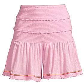 Pitusa Women's Agata Smocked Shorts