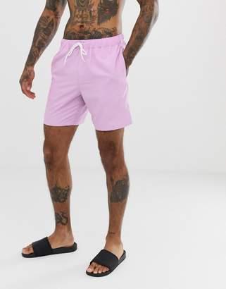 6f8c34ff64 Asos Design DESIGN swim shorts in lilac in mid length