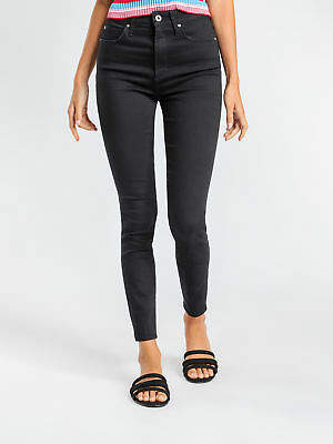 Articles of Society New Womens Sarah High Rise Skinny Jeans In Black Denim