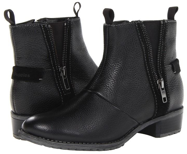 Hush Puppies Chamber Ankle BT (Black WP Leather) - Footwear