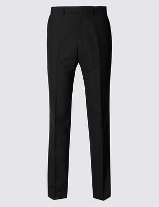 Marks and Spencer Black Regular Fit Wool Trousers