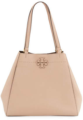 Tory Burch McGraw Carryall Leather Tote Bag