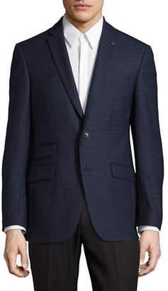 Ted Baker NO ORDINARY JOE Micro Windowpane Wool Suit Jacket
