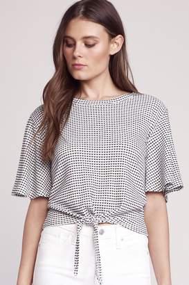 BB Dakota Knit Tie-Front Top