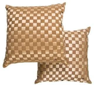 Ankasa Pair of Woven Checkered Throw Pillows