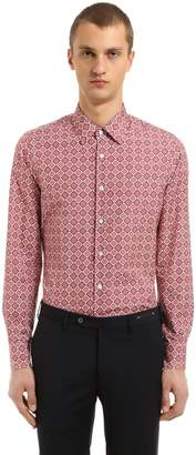 Prada Slim Fit Printed Cotton Poplin Shirt