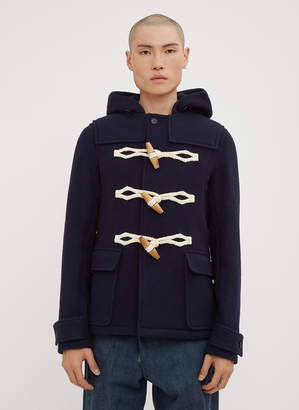 J.W.Anderson Hooded Wooden Toggle Wool Duffle Coat