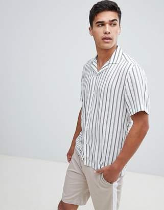 Reiss Slim Short Sleeve Shirt In Stripe