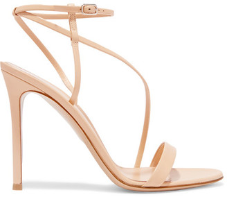 Gianvito Rossi - Leather Sandals - Beige $845 thestylecure.com