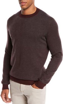 Loro Piana Men's York Heathered Cashmere Sweater