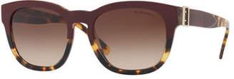 Burberry Two-Tone Square Gradient Sunglasses