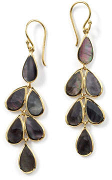 Ippolita 18K Rock Candy Teardrop Cascade Earrings in Black Onyx