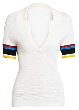 Proenza Schouler White Label Women's Colorblock Cotton Polo
