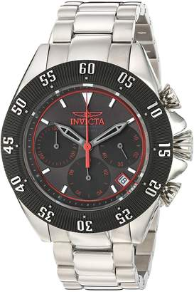 Invicta Men's 'Speedway' Quartz Stainless Steel Casual Watch, Color Silver-Toned (Model: 22395)