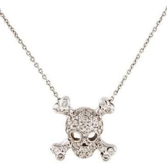 Roberto Coin 18K Diamond Skull & Crossbones Pendant Necklace