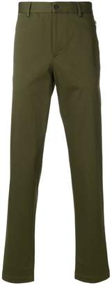 Emporio Armani zip-detailed straight-leg trousers