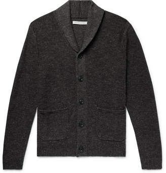 Outerknown Shawl-Collar Mélange Organic Cotton And Wool-Blend Cardigan