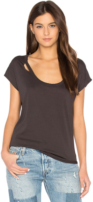 Chaser Deconstructed Shirttail Tee $53 thestylecure.com