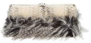 Chanel Python Fantasy Fur Clutch