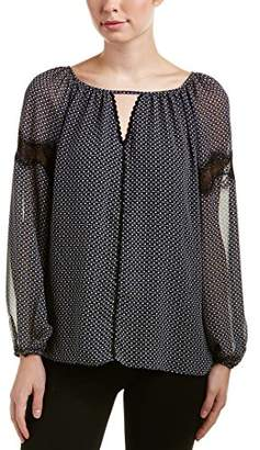 Max Studio Women's Printed Long Sleeve Blouse