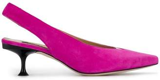 Sergio Rossi slingback pointed-toe pumps