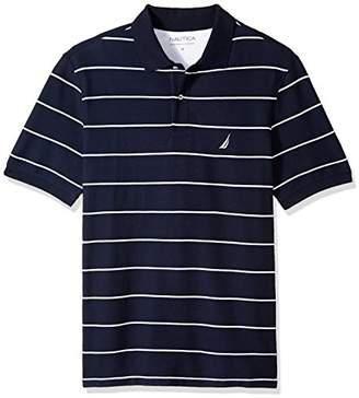 Nautica Men's Big Tall Classic Short Sleeve Striped Polo Shirt
