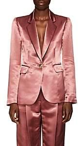 Sies Marjan Women's Kaia Satin Single-Button Blazer - Dk Salmon