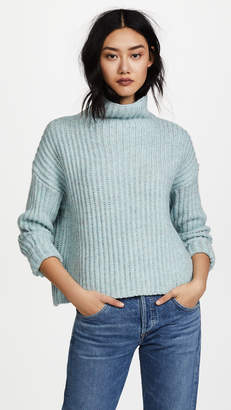 Rebecca Taylor Ribbed Turtleneck Pullover