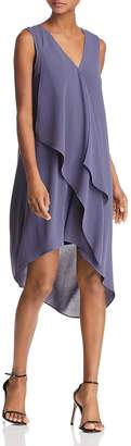 Adrianna Papell Asymmetric Draped Dress