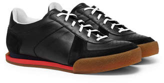 Givenchy Set3 Full-Grain Leather and Suede Sneakers - Men - Black
