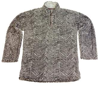 True Grit Men's Frosty Cord Pile 1/4 Zip Pullover